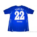 2007/2008 Everton Player Issue Yakubu 22 UEFA Cup Home