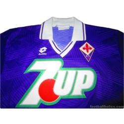 1991-93 Fiorentina Match Worn No.5 Home Shirt