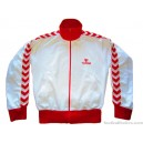 1990s Hummel White & Red Tracksuit Top