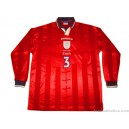 1997/1999 England Match Worn No.3 Away