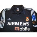2002/2003 Real Madrid Centenary Champions League Away