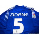 2004/2005 Real Madrid Zidane 5 Third
