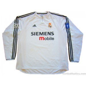 2003/2004 Real Madrid Champions League Home