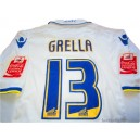 2009/2010 Leeds United Match Worn Grella 13 Home