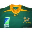 2003 South Africa Springboks 'World Cup' Player Issue Home