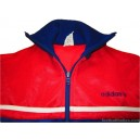 1980s Adidas Navy & Red Tracksuit Top