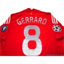 2008-09 Liverpool Gerrard 8 Champions League Home Shirt