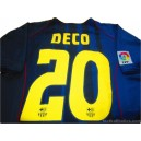 2004-05 FC Barcelona Deco 20 Away Shirt
