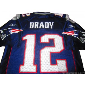 2002-11 New England Patriots Brady 12 Home Jersey
