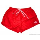 1970s Umbro Vintage Red Nylon Shorts