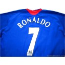 2005-06 Manchester United Ronaldo 7 Away Shirt