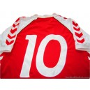 1984 Hummel 'Denmark' (Larsen) No.10 Retro Home Shirt