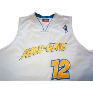 2006 AND1 Mixtape Tour Professor 12 Home Jersey