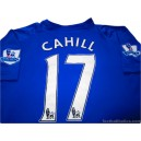 2010-11 Everton Cahill 17 Home Shirt