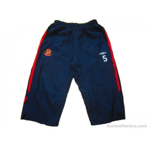 2007-08 Sunderland Player Issue (Nosworthy) No.5 3/4 Training Pants/Bottoms