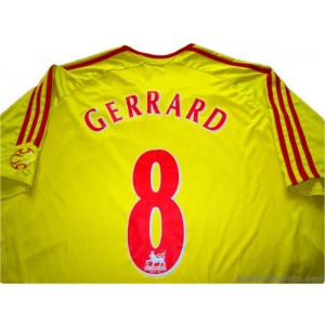 2006-07 Liverpool Gerrard 8 Away Shirt
