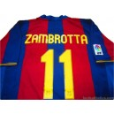 2007-08 FC Barcelona 'Camp Nou' Zambrotta 11 Home Shirt