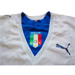 2006 Italy Player Issue Away Shirt