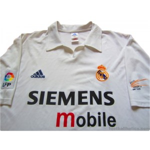 2002-03 Real Madrid Centenary Home Shirt