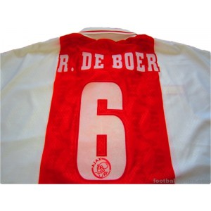 1998-99 Ajax Ronald De Boer 6 Home Shirt