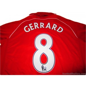 2006-08 Liverpool Gerrard 8 Home Shirt