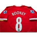 2006-07 Manchester United Rooney 8 Home Shirt
