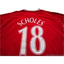 2006-07 Manchester United Scholes 18 Home Shirt