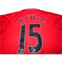 2007-09 Manchester United Vidic 15 Home Shirt