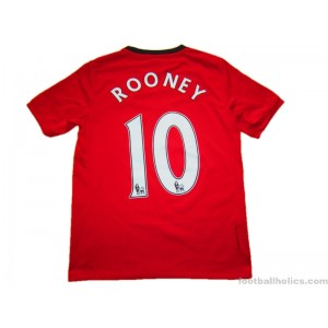2009-10 Manchester United Rooney 10 Home Shirt