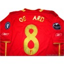2005-06 Liverpool Gerrard 8 Champions League Home Shirt