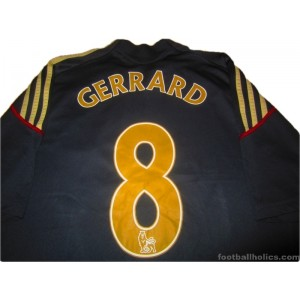 2009-10 Liverpool Gerrard 8 Away Shirt