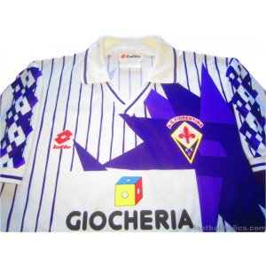 1991-92 Fiorentina Match Worn No.11 Away Shirt