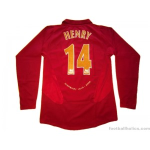 b9288ac1fac 2005-06 Arsenal  Highbury  Henry 14 Home Shirt - Footballholics.com