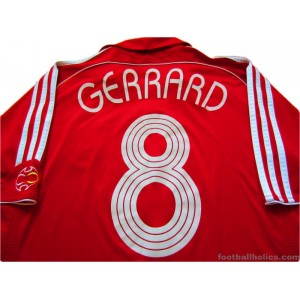5811b42be 2006 2008 Liverpool Gerrard 8 Champions League Home - Footballholics.com