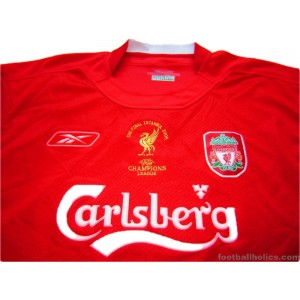 on sale b5174 87296 2005 Liverpool 'Champions League Final' Home Shirt ...