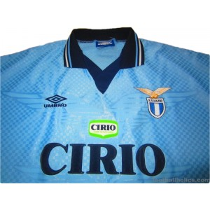 c14e9ed11d6 1996-97 Lazio Match Issue No.15 Home Shirt - Footballholics.com