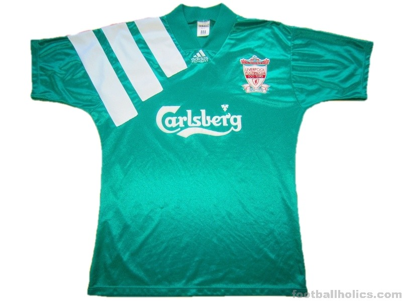 premium selection 70558 56d22 1992-93 Liverpool Centenary Away Shirt - Footballholics.com