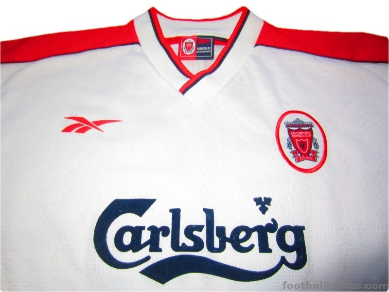 pretty nice aa979 710bd 1998-99 Liverpool Match Issue Dundee 16 Uefa Cup Away Shirt ...