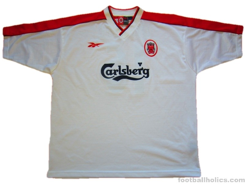 pretty nice 0f5e7 94cb1 1998-99 Liverpool Match Issue Dundee 16 Uefa Cup Away Shirt ...