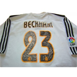 3b24ce4cc 2003-04 Real Madrid Beckham 23 Home Shirt - Footballholics.com
