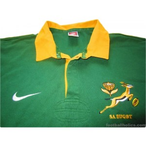 aa0c295b65d 1996-97 South Africa Springboks Pro Home Shirt - Footballholics.com